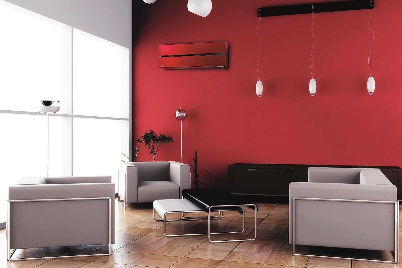 Sirt Torino - 1 mitsubishi electric MSZ LN kirigamine rosso climatizzatori di design